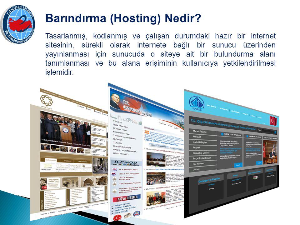 Barındırma (Hosting) Nedir? Tasarlanmış, kodlanmış ve çalışan durumdaki hazır bir internet sitesinin, sürekli olarak internete bağlı bir sunucu üzerin