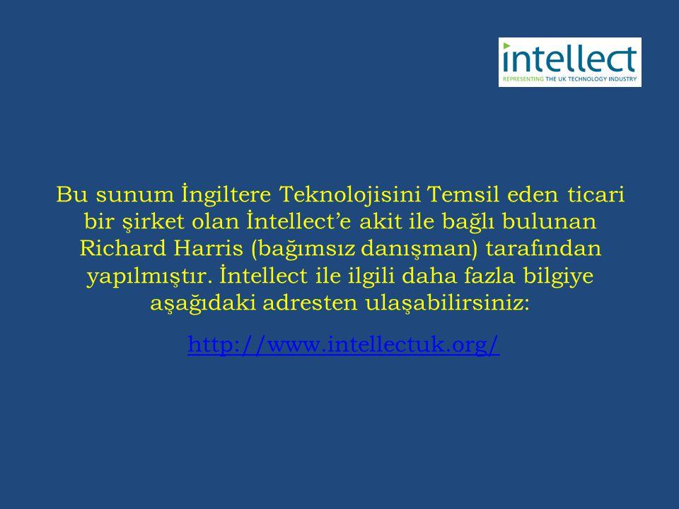 Bu sunum İngiltere Teknolojisini Temsil eden ticari bir şirket olan İntellect'e akit ile bağlı bulunan Richard Harris (bağımsız danışman) tarafından yapılmıştır.