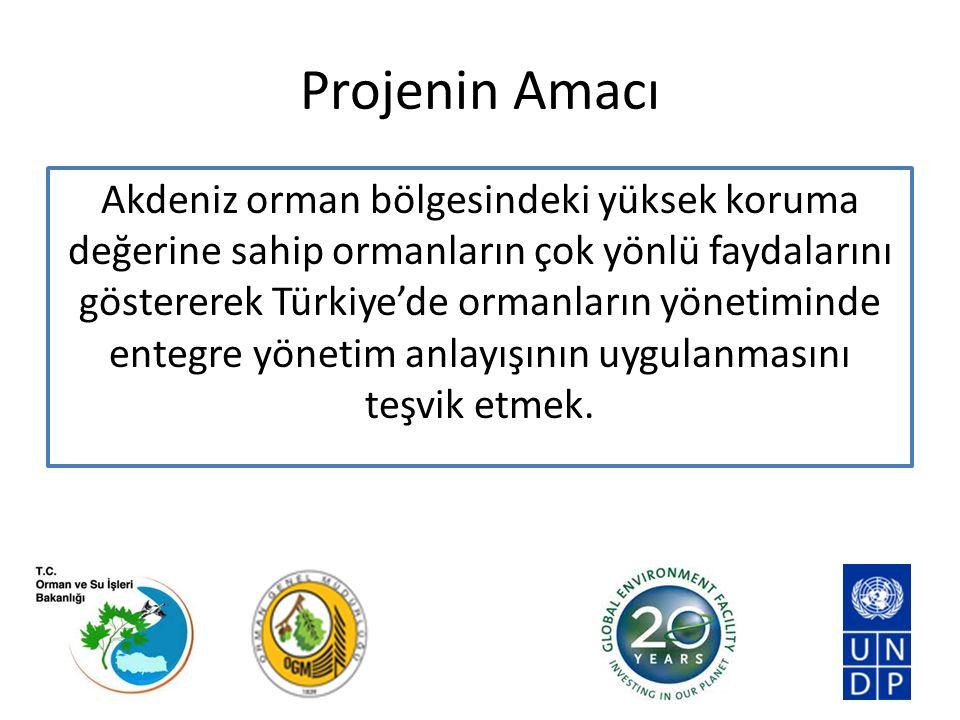 Projenin Amacı Akdeniz orman bölgesindeki yüksek koruma değerine sahip ormanların çok yönlü faydalarını göstererek Türkiye'de ormanların yönetiminde e