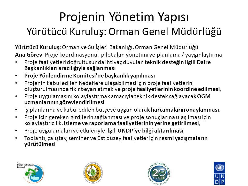 Yürütücü Kuruluş: Orman ve Su İşleri Bakanlığı, Orman Genel Müdürlüğü Ana Görev: Proje koordinasyonu, pilot alan yönetimi ve planlama / yaygınlaştırma