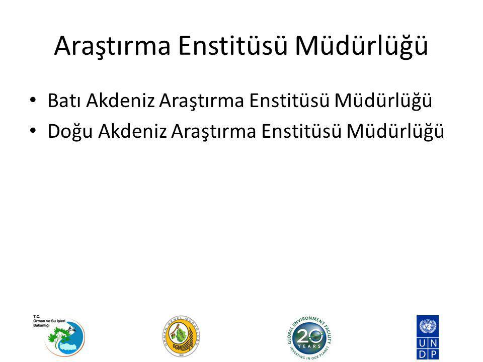 Araştırma Enstitüsü Müdürlüğü Batı Akdeniz Araştırma Enstitüsü Müdürlüğü Doğu Akdeniz Araştırma Enstitüsü Müdürlüğü