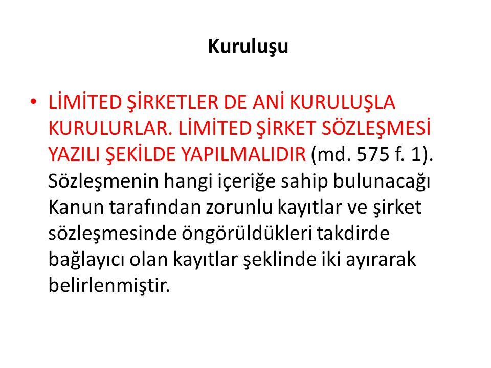 Genel Kurul Limited şirketlerde genel kurul olağan ve olağanüstü olmak üzere iki şekilde toplanır.