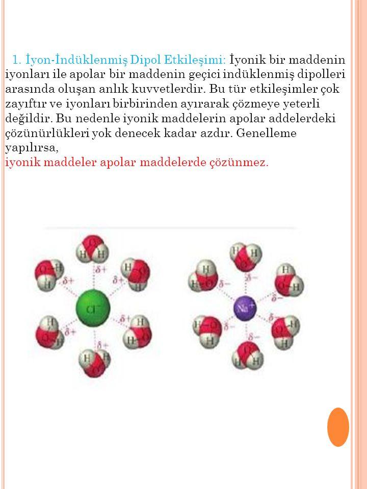 Bu nedenle polar maddeler ile apolar maddelerin birbirleri içindeki çözünürlüğü yok denecek kadar azdır.