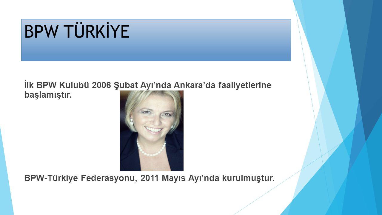 BPW TÜRKİYE İlk BPW Kulubü 2006 Şubat Ayı'nda Ankara'da faaliyetlerine başlamıştır. BPW-Türkiye Federasyonu, 2011 Mayıs Ayı'nda kurulmuştur.