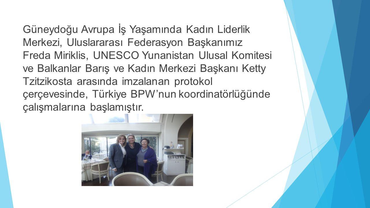 Güneydoğu Avrupa İş Yaşamında Kadın Liderlik Merkezi, Uluslararası Federasyon Başkanımız Freda Miriklis, UNESCO Yunanistan Ulusal Komitesi ve Balkanla