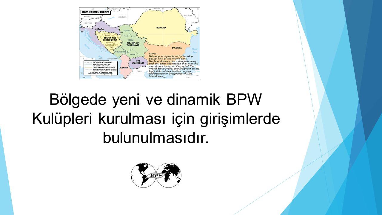 Bölgede yeni ve dinamik BPW Kulüpleri kurulması için girişimlerde bulunulmasıdır.