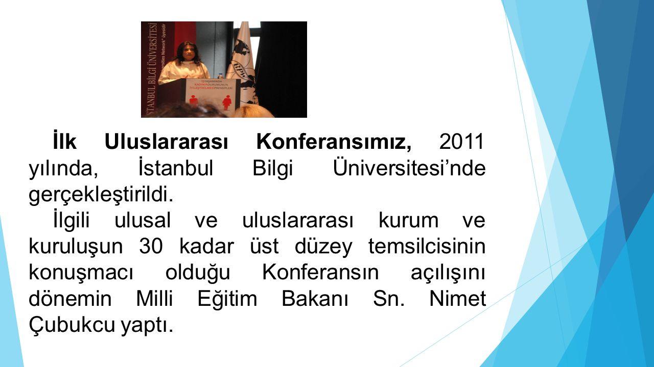 İlk Uluslararası Konferansımız, 2011 yılında, İstanbul Bilgi Üniversitesi'nde gerçekleştirildi. İlgili ulusal ve uluslararası kurum ve kuruluşun 30 ka
