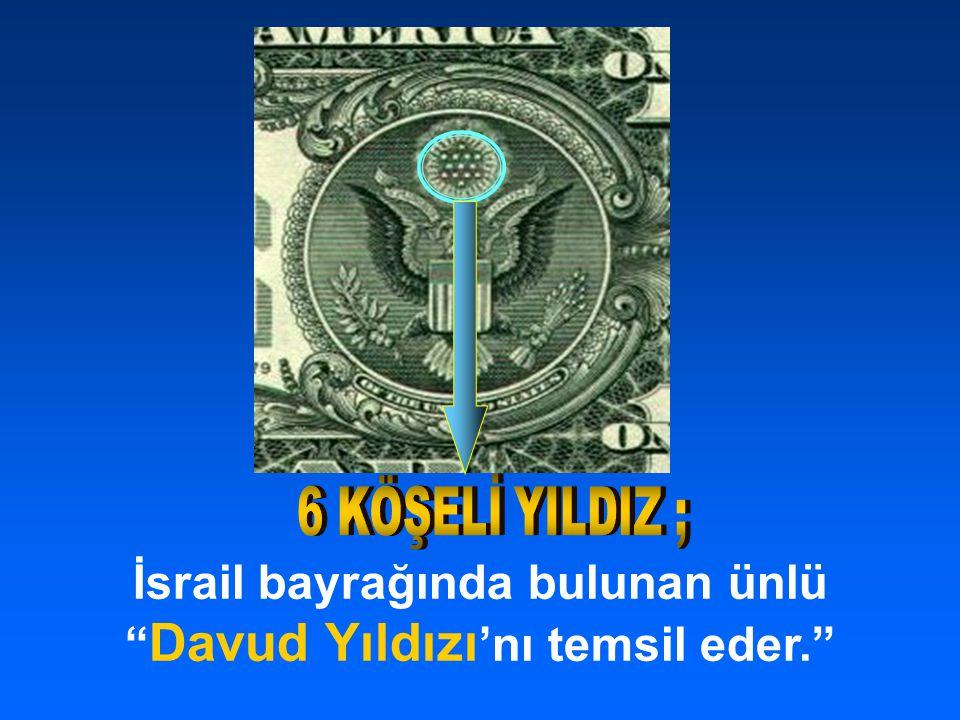 İsrail bayrağında bulunan ünlü Davud Yıldızı 'nı temsil eder.