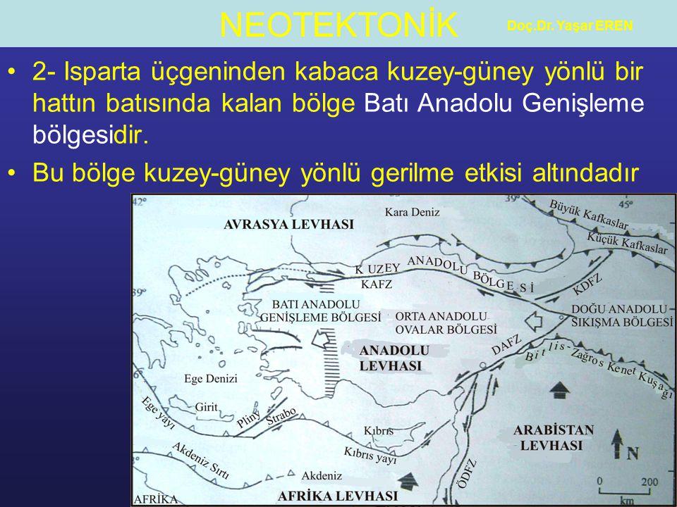 NEOTEKTONİK Doç.Dr.Yaşar EREN 3- İki bölge arasında ise Orta Anadolu Ovalar Bölgesi yer alır.