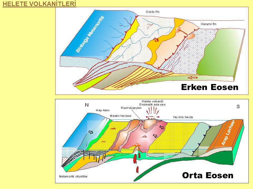 Erken Eosen Orta Eosen HELETE VOLKANİTLERİ