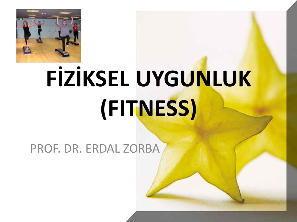 FİZİKSEL UYGUNLUK (FITNESS) PROF. DR. ERDAL ZORBA
