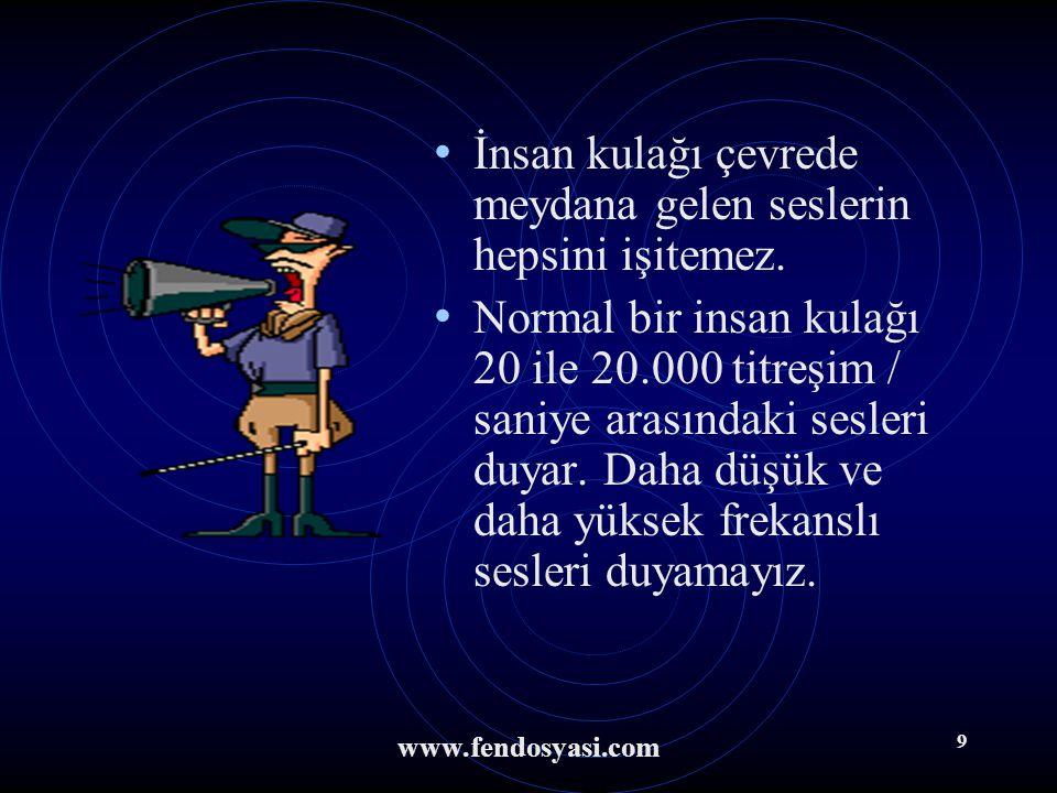 www.fendosyasi.com 8 3. Kulağımızın ikinci görevi de dengemizin sağlanmasına yardımcı olmaktır. Yarım daire kanallarında bulunan denge sinirleri denge