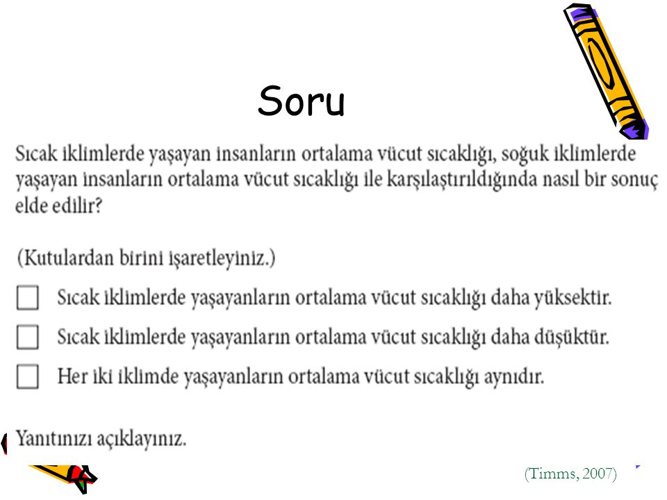 Soru (Timms, 2007)