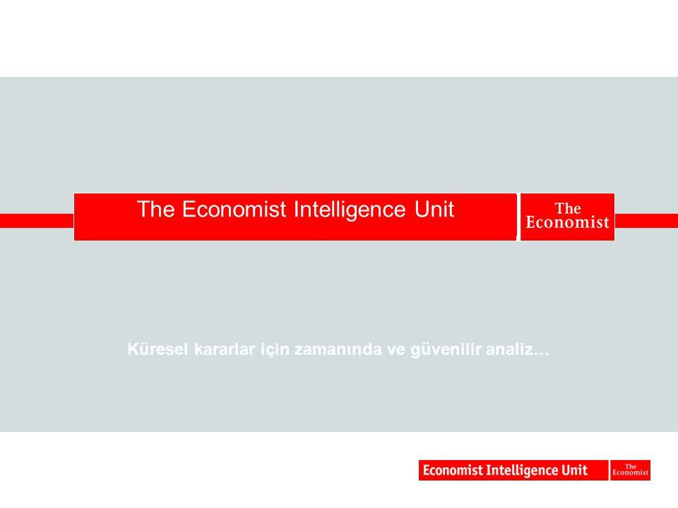 Küresel kararlar için zamanında ve güvenilir analiz… The Economist Intelligence Unit