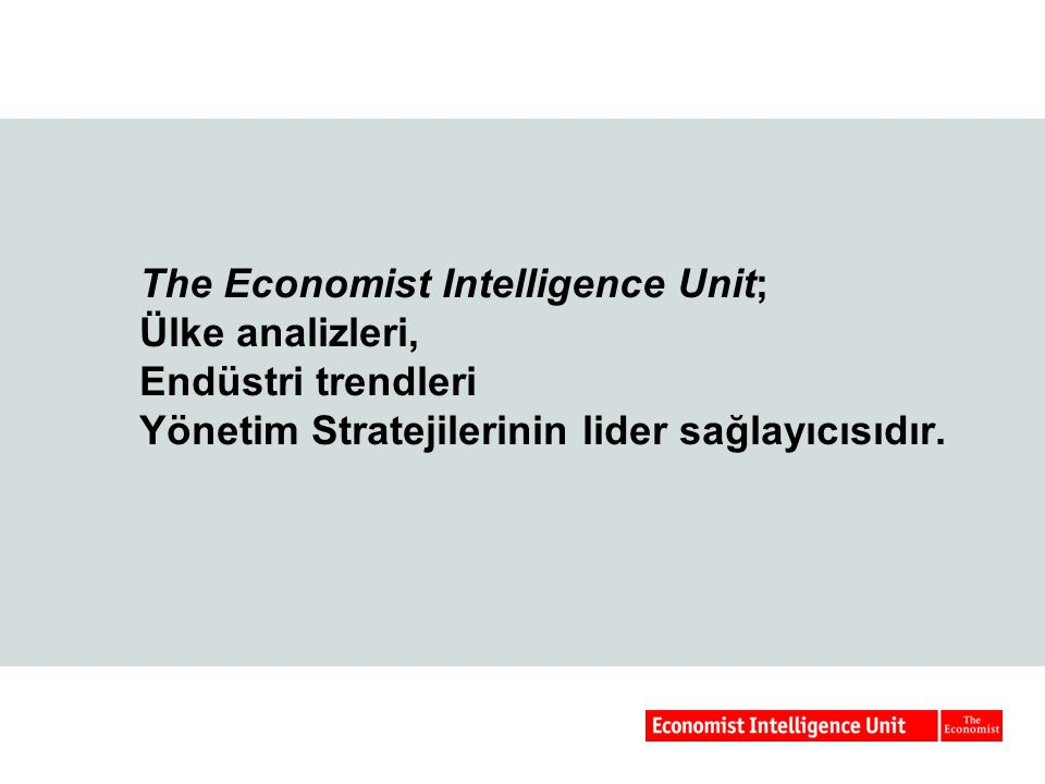 Ülke Analizi ve Tahminleri Ülke Raporu (Country Report) Ülke Tahminleri (Country Forecasts) Ülke Riski (Country Risk) Ülke Ticareti (Country Commerce) Ülke Maliyesi (Country Finance)