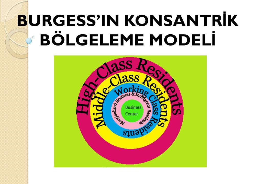 BURGESS'IN KONSANTR İ K BÖLGELEME MODEL İ