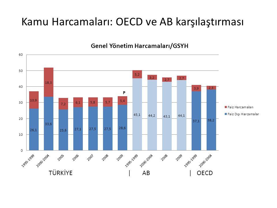 TÜRKİYE | AB | OECD Kamu Harcamaları: OECD ve AB karşılaştırması