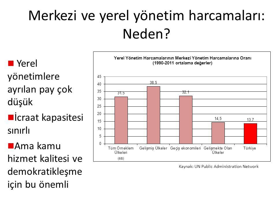 Merkezi ve yerel yönetim harcamaları: Neden.