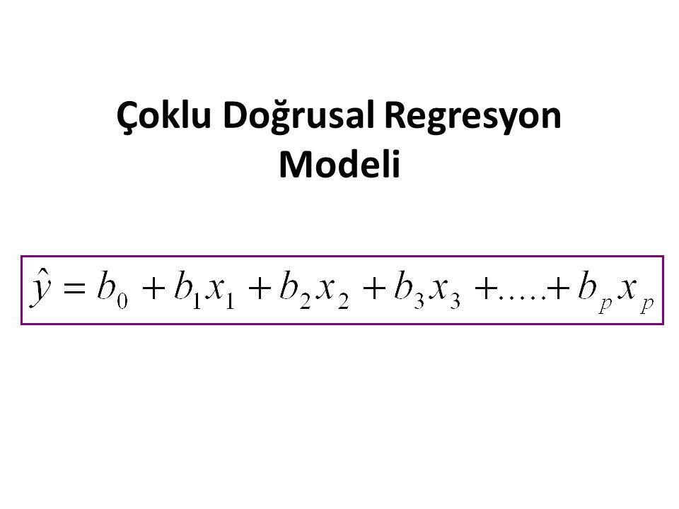 Çoklu Doğrusal Regresyon Modeli