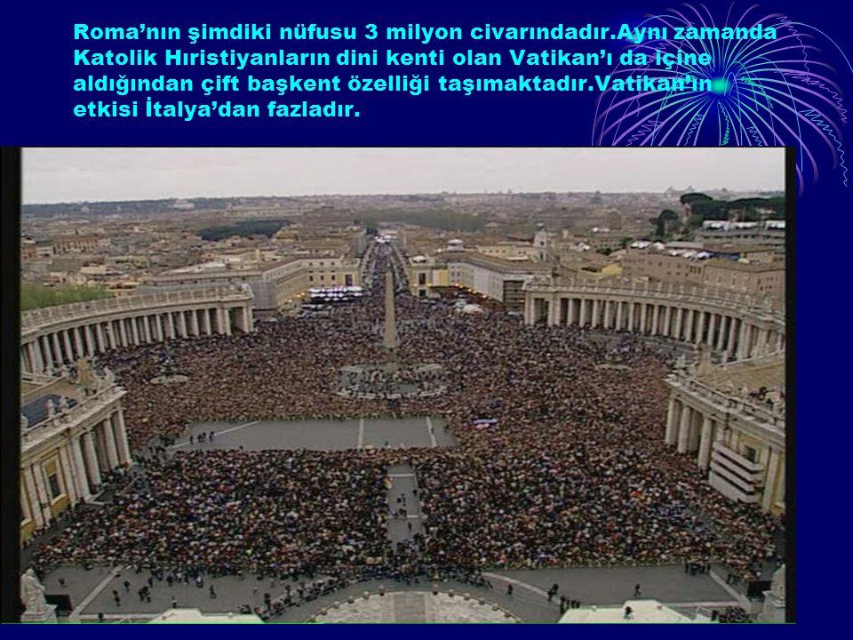 Cografya.bizMuhammed Doruk10 1.ROMA Roma,tarih boyunca süren belirleyici etkisinden dolayı Dünya'nın Başkenti unvanına sahiptir.13.yy.da nüfusu 13bin