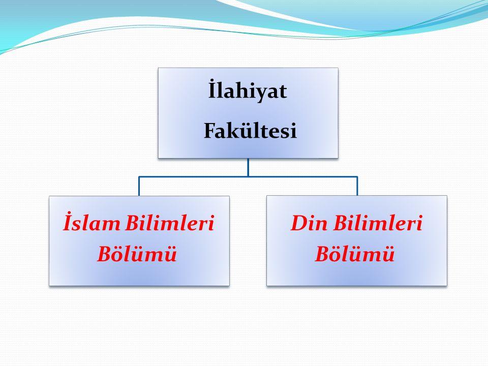 İlahiyat Fakültesi İslam Bilimleri Bölümü Din Bilimleri Bölümü