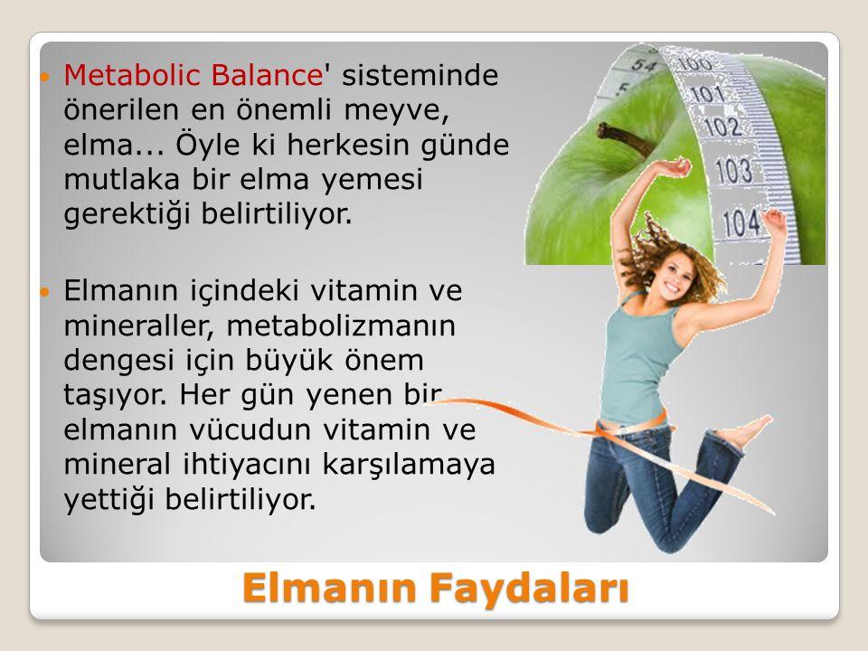 Elmanın Faydaları Metabolic Balance sisteminde önerilen en önemli meyve, elma...