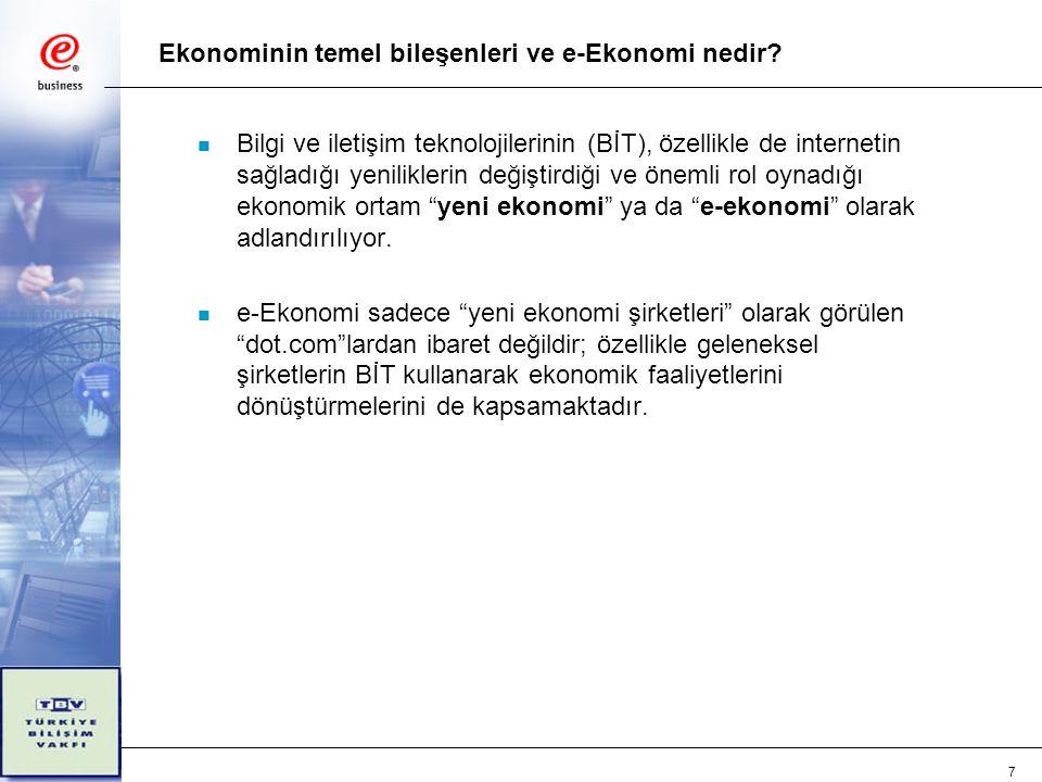7 Ekonominin temel bileşenleri ve e-Ekonomi nedir.