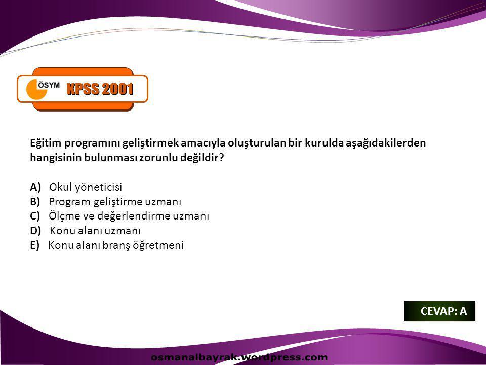( KPSS 2012 ) Ülkemizde bir dersin öğretim programının hazırlanması ve uygulamaya konulması konusunda aşağıdakilerden hangisi yetkilidir.