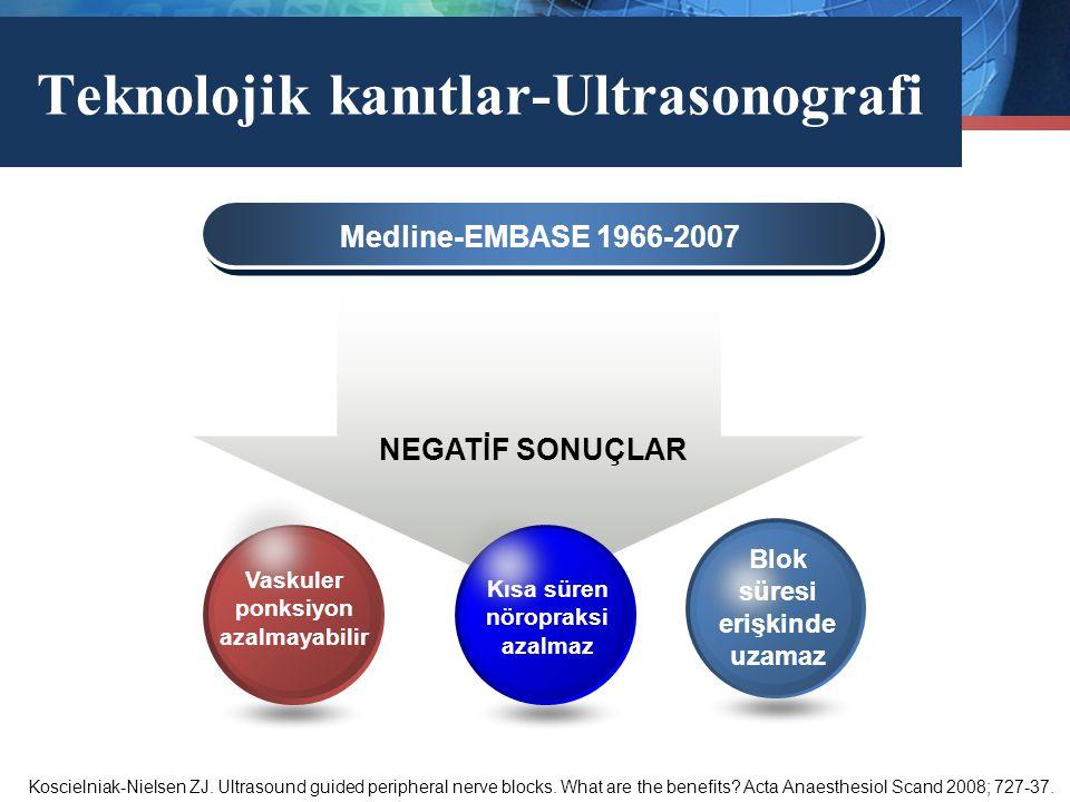 Marketing Diagram Medline-EMBASE 1966-2007 Blok süresi erişkinde uzamaz Kısa süren nöropraksi azalmaz Vaskuler ponksiyon azalmayabilir Teknolojik kanı