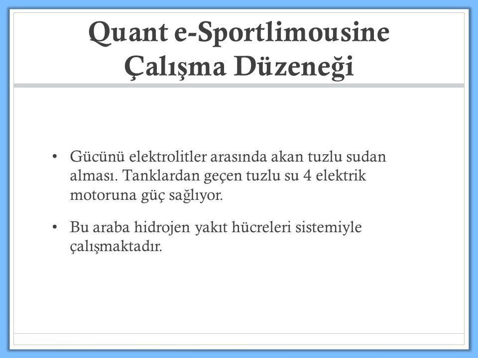 Quant e-Sportlimousine Çalı ş ma Düzene ğ i