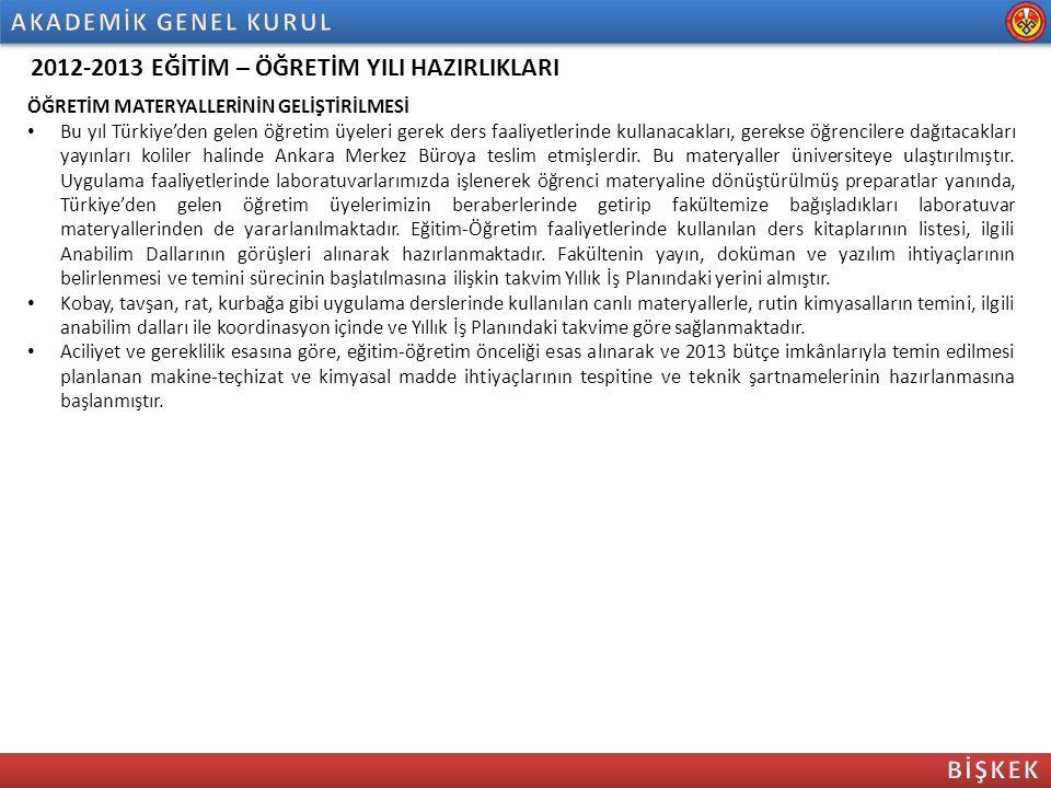 2012-2013 EĞİTİM – ÖĞRETİM YILI HAZIRLIKLARI ÖĞRETİM MATERYALLERİNİN GELİŞTİRİLMESİ Bu yıl Türkiye'den gelen öğretim üyeleri gerek ders faaliyetlerind