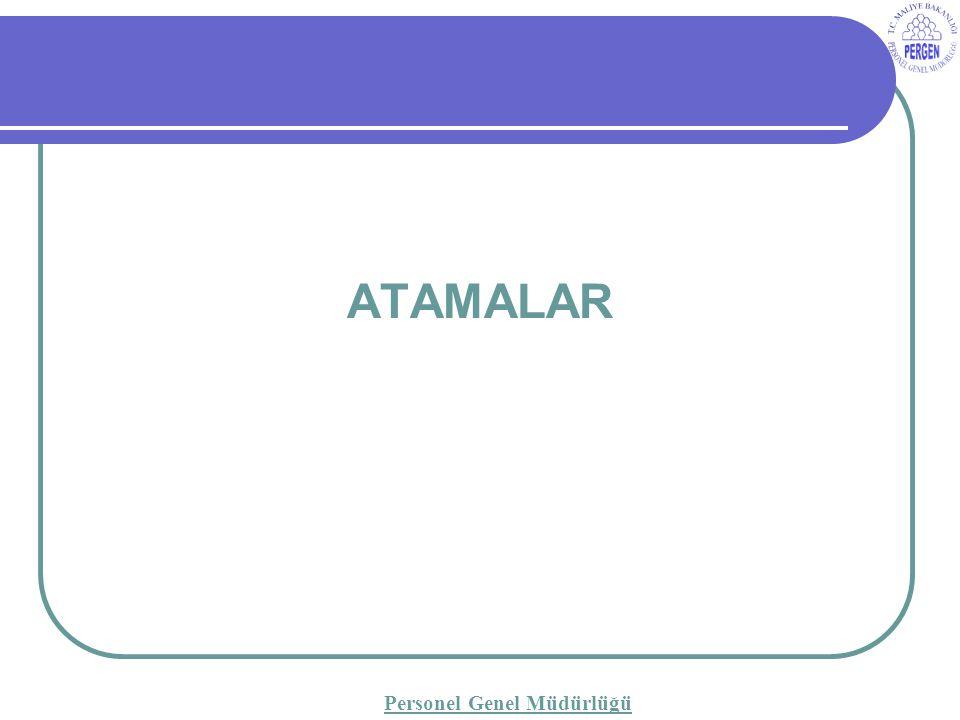 ATAMALAR Personel Genel Müdürlüğü