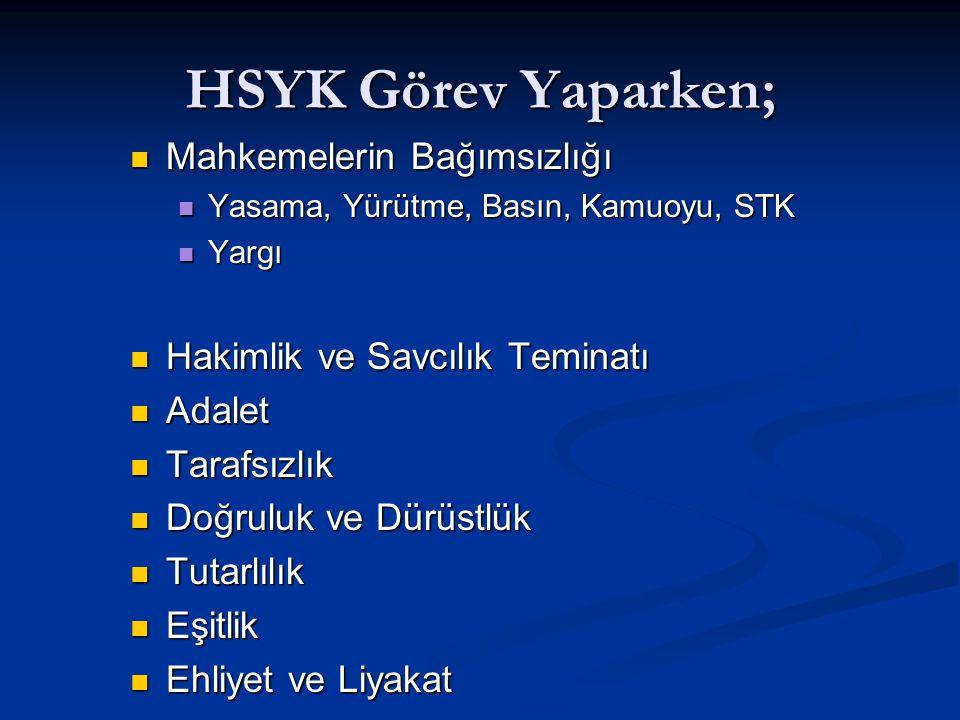 HSYK (Anayasa Değişikliği) Daireler Daireler 1.Daire 2.Daire 2.Daire 3.