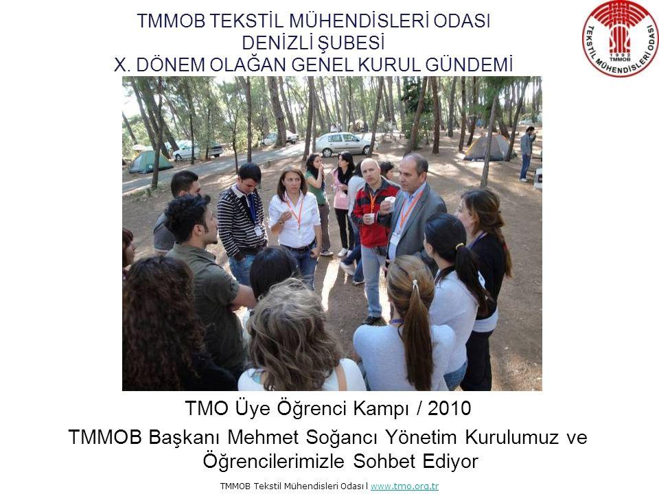 TMMOB Tekstil Mühendisleri Odası l www.tmo.org.trwww.tmo.org.tr Öğrenci Üye Kampı Oda tarihimizde ilk defa bir etkinlik kitabı yayınlandı.