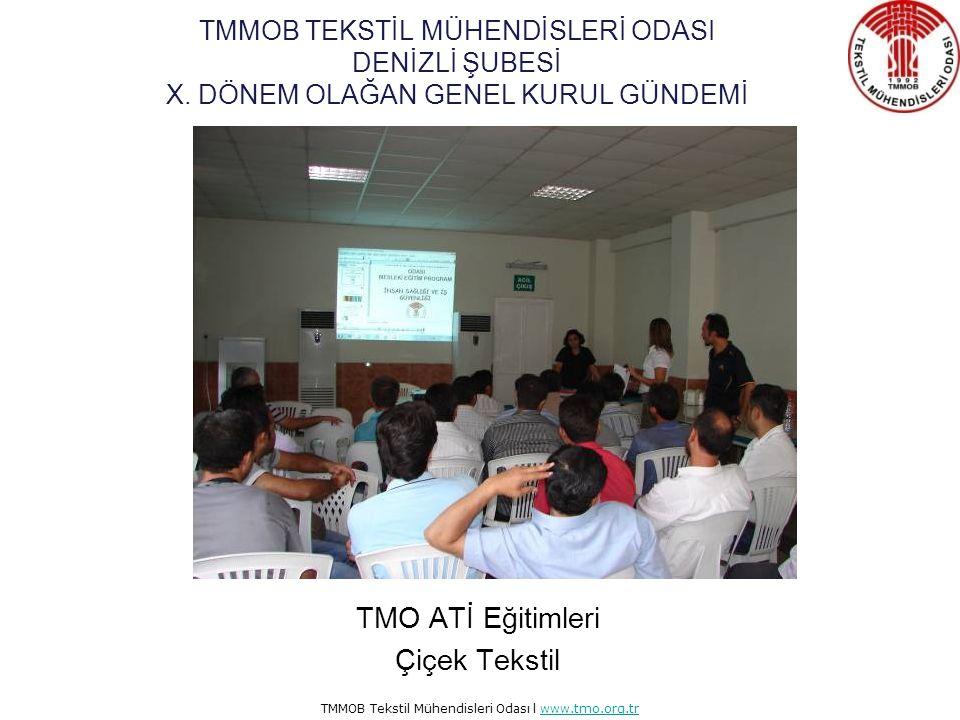 TMMOB Tekstil Mühendisleri Odası l www.tmo.org.trwww.tmo.org.tr TMO ATİ Eğitimleri Menderes Tekstil TMMOB TEKSTİL MÜHENDİSLERİ ODASI DENİZLİ ŞUBESİ X.