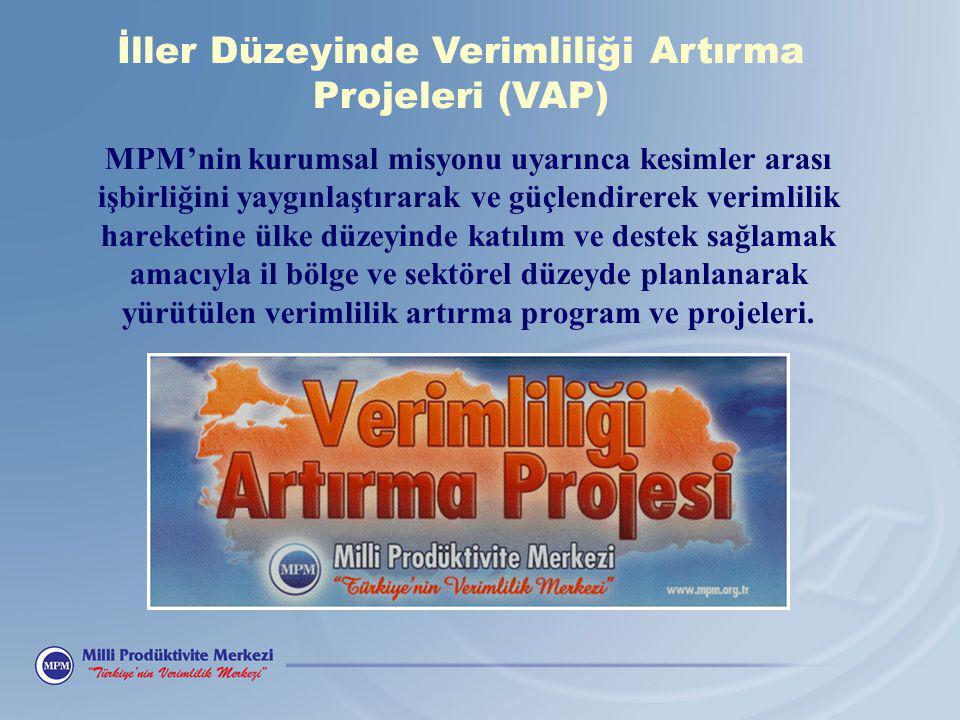 MPM'nin kurumsal misyonu uyarınca kesimler arası işbirliğini yaygınlaştırarak ve güçlendirerek verimlilik hareketine ülke düzeyinde katılım ve destek