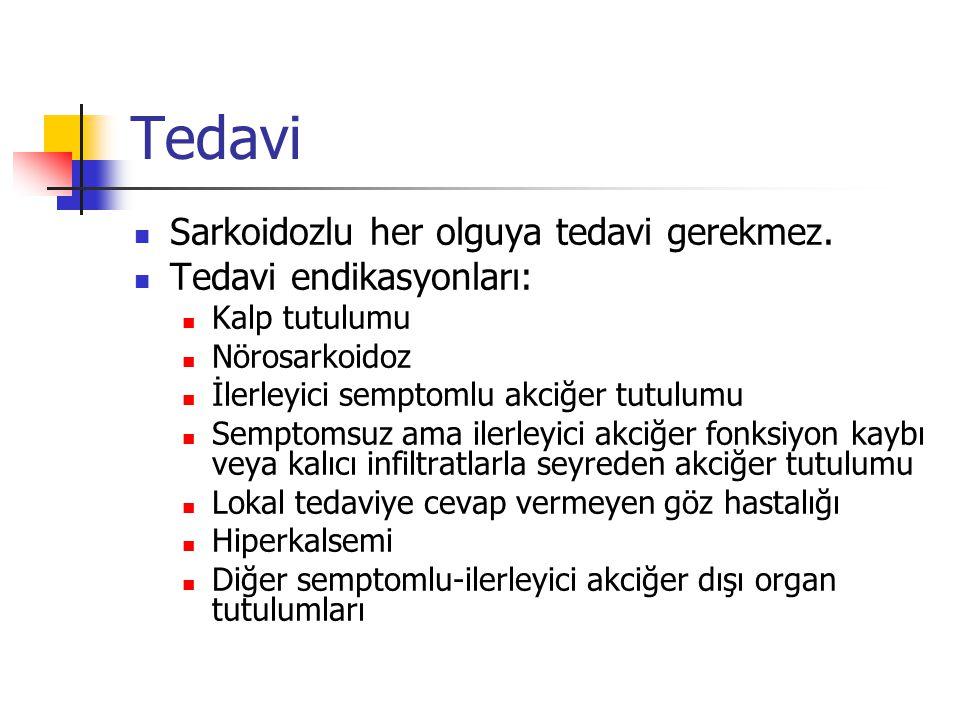 Sarkoidoz tedavisinde ilk seçenek kortikosteroidlerdir.