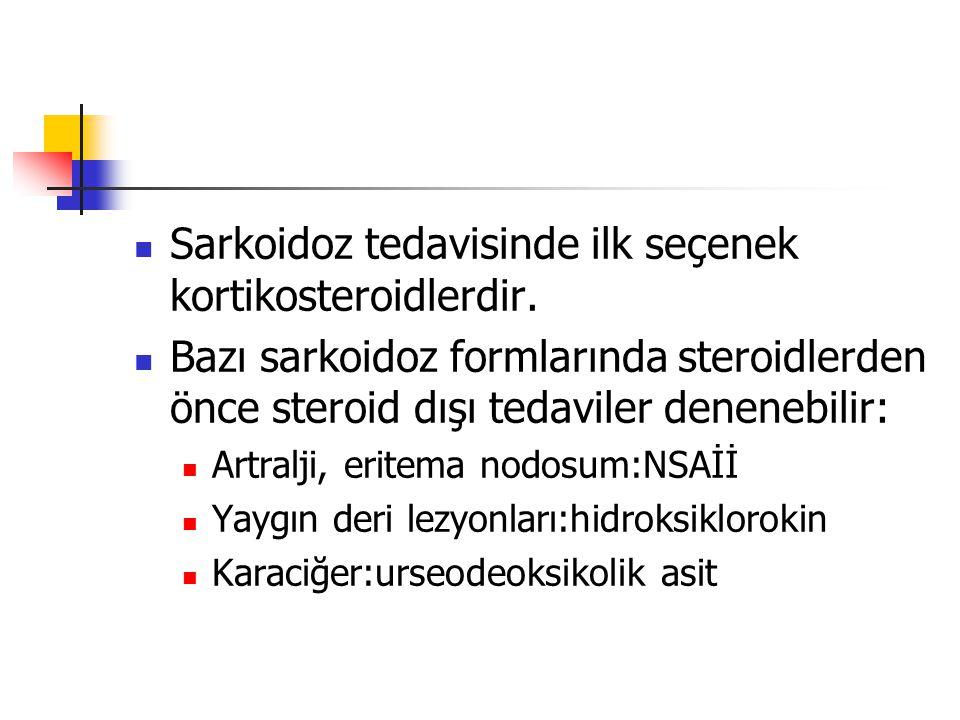 Uygun durumlarda lokal tedavi kullanılmalıdır: Deri:lokal steroidler Göz:steroidli göz damlaları, göz çevresine sterid enjeksiyonu Öksürük, bronş aşırı duyarlılığı:inhale steroidler