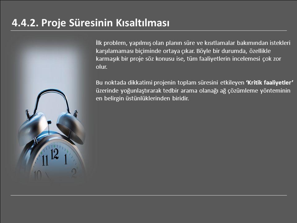 İlk problem, yapılmış olan planın süre ve kısıtlamalar bakımından istekleri karşılamaması biçiminde ortaya çıkar.