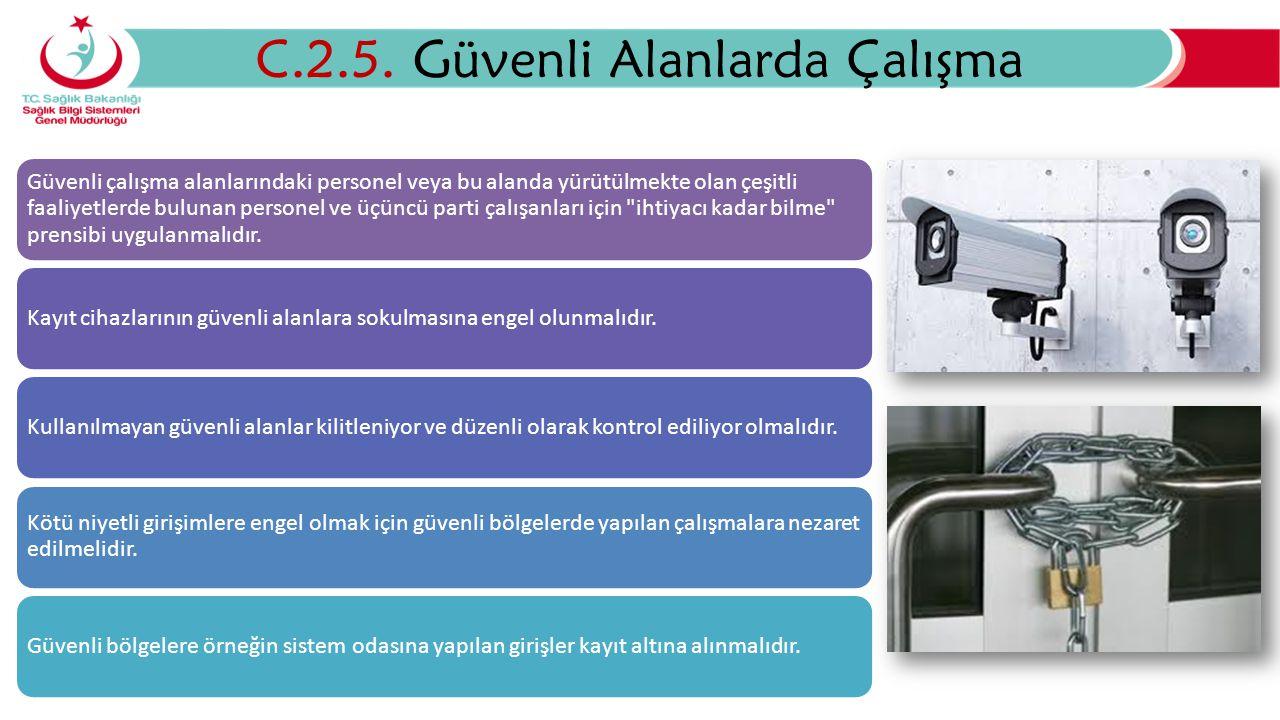 Ekipman Güvenliği C.3.1.