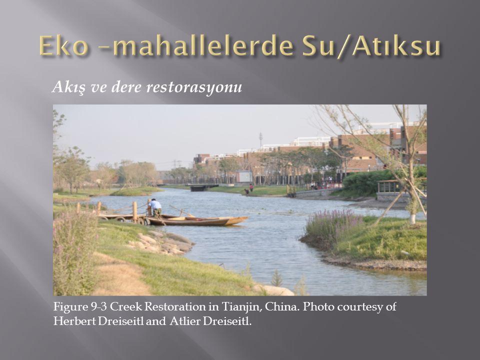 Akış ve dere restorasyonu Figure 9-3 Creek Restoration in Tianjin, China. Photo courtesy of Herbert Dreiseitl and Atlier Dreiseitl.