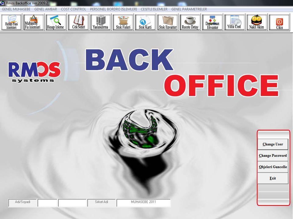Stok Kodları MS Excel'den Transfer edilebilmesi Programın her bölümünde raporları Word ve Excel'e gönderebilmek için bu butonlardan faydalanılır.