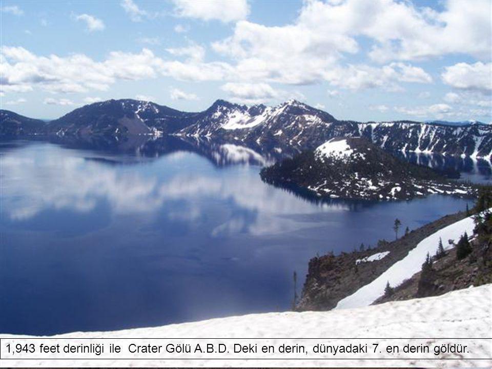 Belki de dünyanın en güzel Krater Gölü .