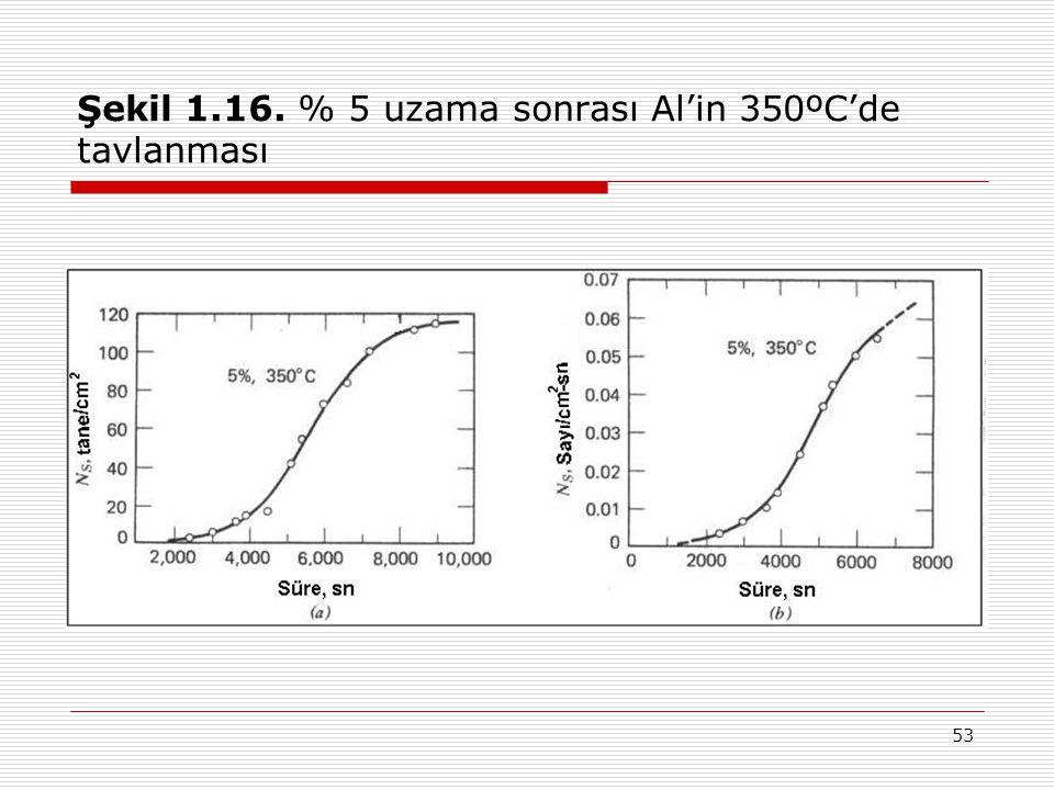 53 Şekil 1.16. % 5 uzama sonrası Al'in 350ºC'de tavlanması