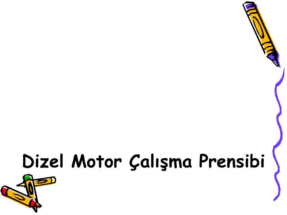 Dizel Motor Çalışma Prensibi