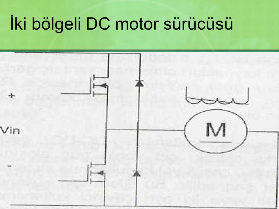 İki bölgeli DC motor sürücüsü