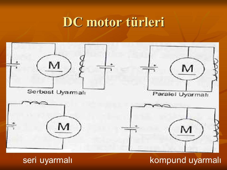 DC motor türleri seri uyarmalıkompund uyarmalı