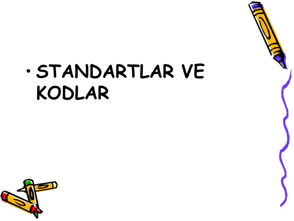 STANDARTLAR VE KODLAR