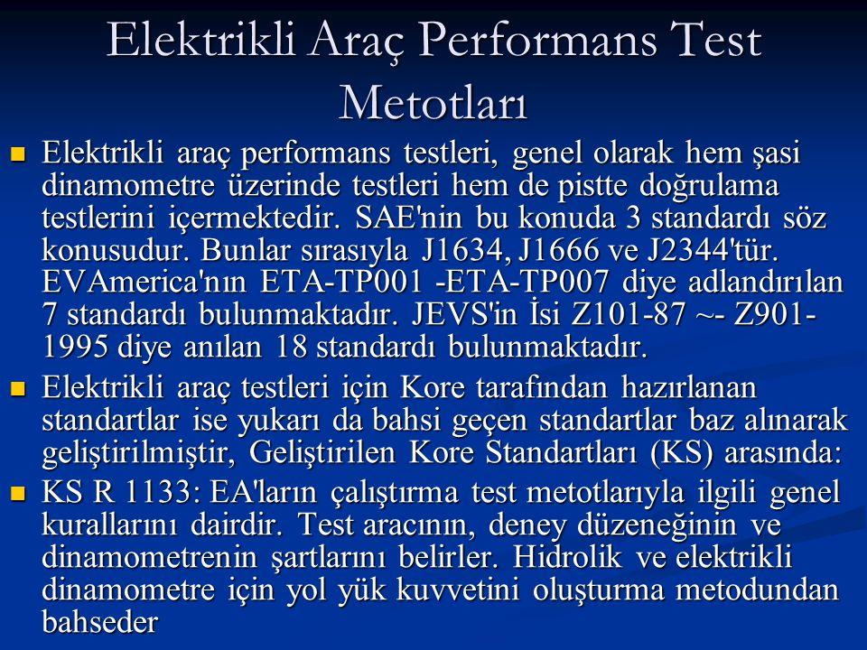 Elektrikli Araç Performans Test Metotları Elektrikli araç performans testleri, genel olarak hem şasi dinamometre üzerinde testleri hem de pistte doğrulama testlerini içermektedir.