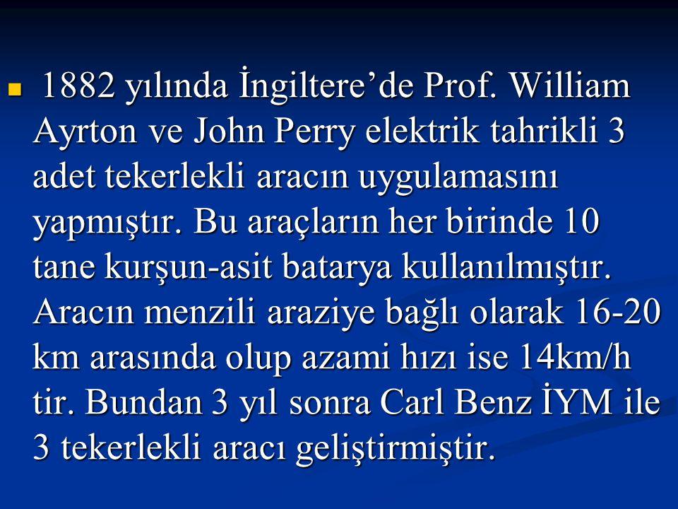 1882 yılında İngiltere'de Prof.